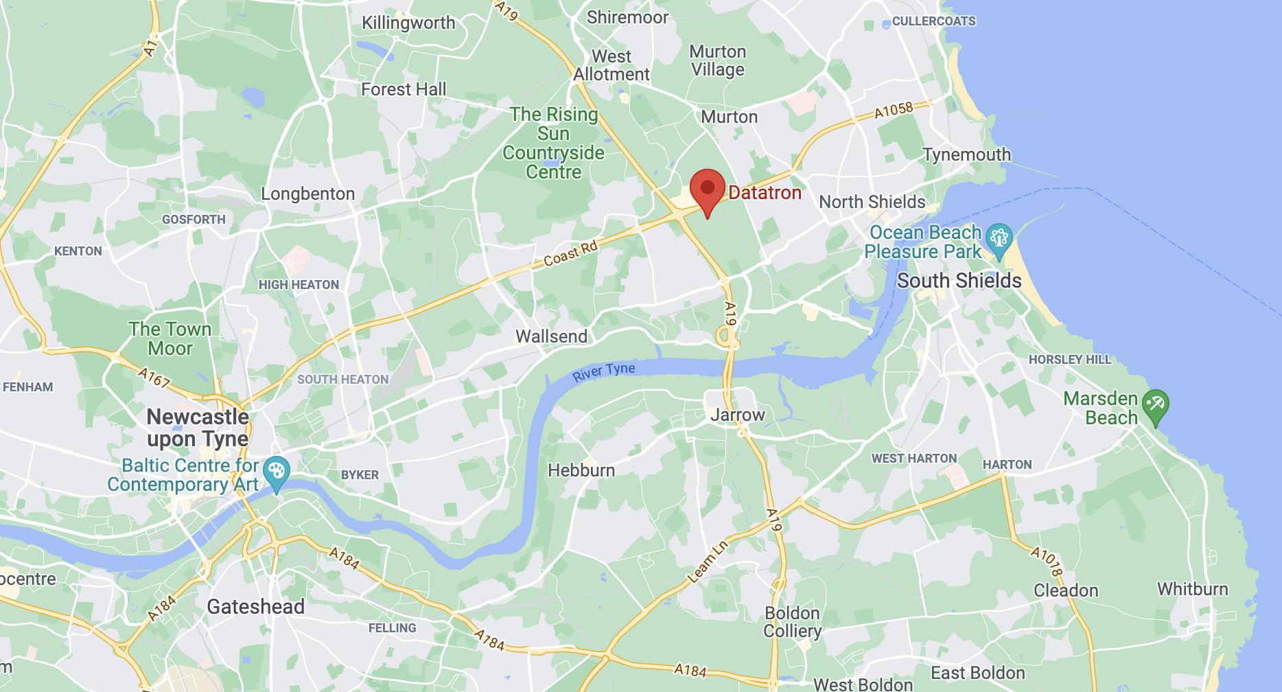 Datatron map location